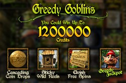 greedy goblins slot with cascading wilds and jackpot