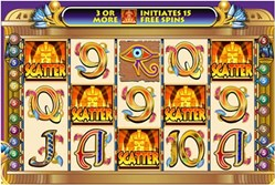 cleopatra online money slot with scatters and features