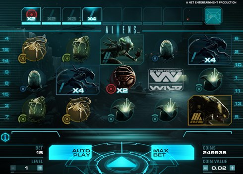NetEnt Aliens slots free to play just for fun and real money gambling game
