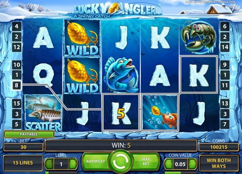 Lucky Angler slots free play for fun and real money betting at NetEnt casinos