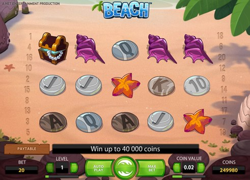 Beach Slot Machine by NetEnt casinos is a real money gambling slot