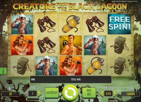 Creature from the Black Lagoon online slot game by NetEnt casinos