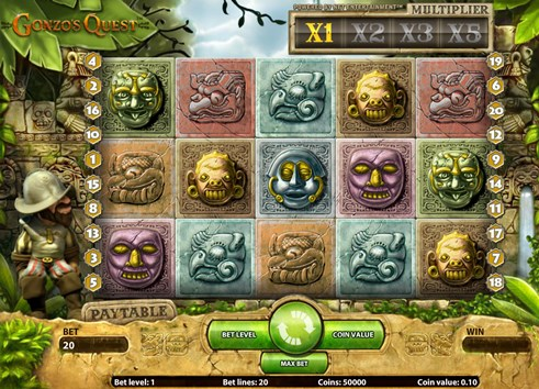 Gonzo's Quest slot real money betting game by NetEnt casinos