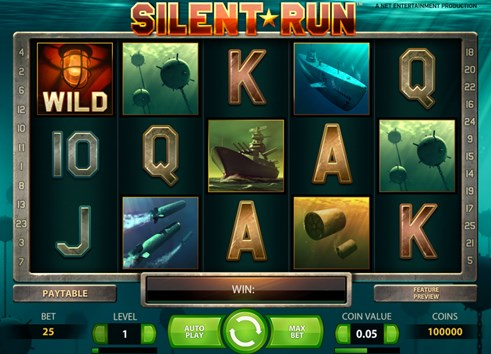 Silent Run NetEnt slot casino game for real money play