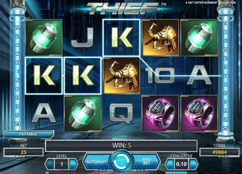 Thief slot NetEnt casino game