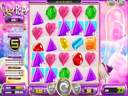Sugar Pop slots by Betsoft gaming free to play