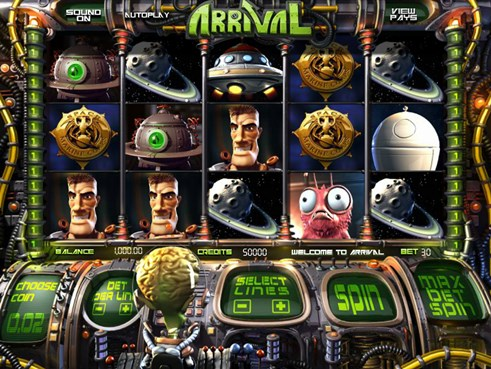 Arrival slots by BetSoft gaming free to play and real money gambling game