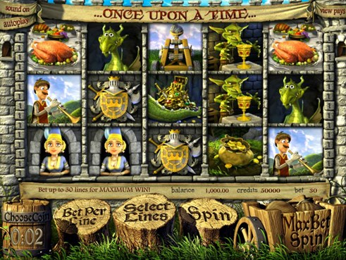 Once upon a time time slot game in 3D for real money gambling