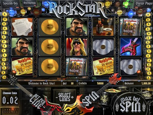 Rock Star slots casino game by Betsoft gaming