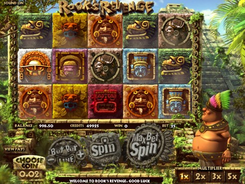 Rook's Revenge slots 3D video gambling game by BetSoft