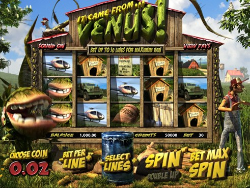 It Came from Venus Slots free play and real money slot machine by BetSoft gaming