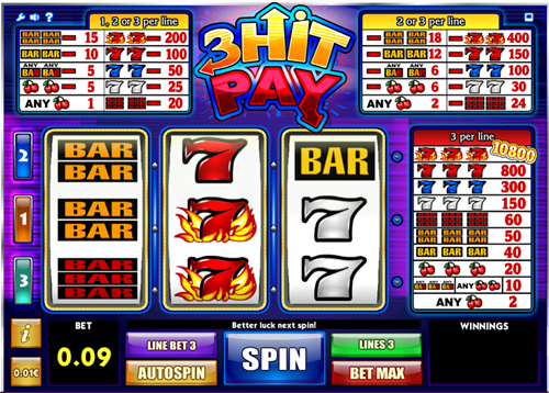 Free 3 hit pay slot game by iSoftBet
