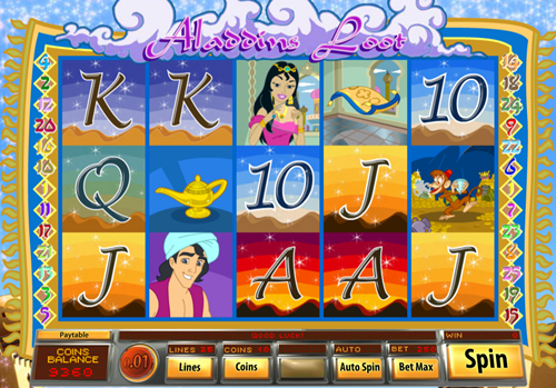 Free aladdin's loot slot game by Saucify