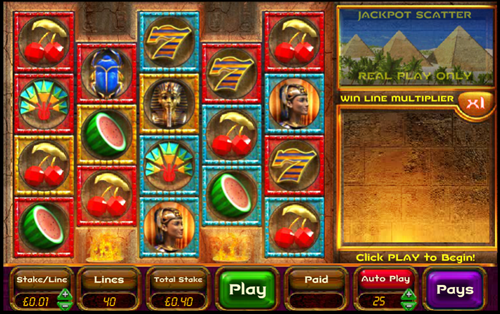 Free ancient riches cashdrop slot game by OpenBet