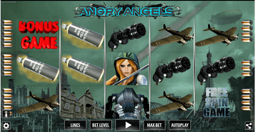 Free angry angels slot game by World Match Games