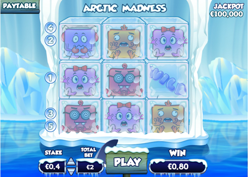 Free arctic madness slot game by Pariplay
