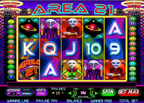 Free area 21 slot game by Cryptologic