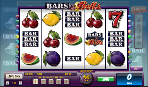 Free bars and bells slots game by Amaya