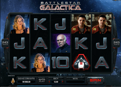 Free battlestar galactica slot game by Microgaming