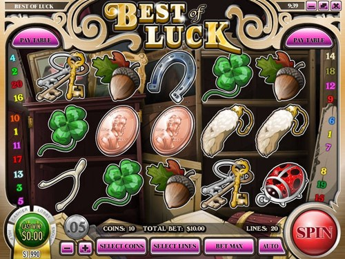 Free best of luck slot game by Rival Gaming