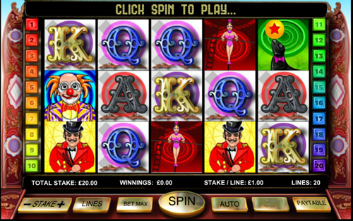 Free big top extravaganza slot game by OpenBet