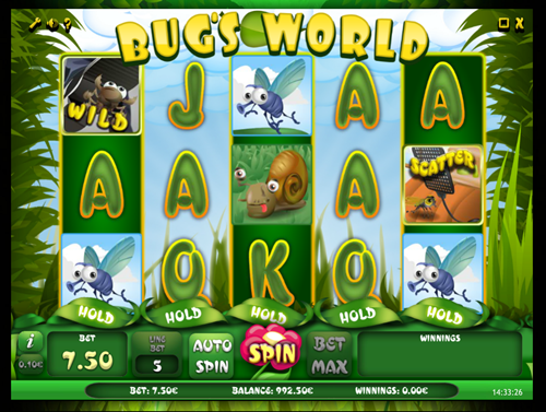 Free bug world slot game by iSoftBet