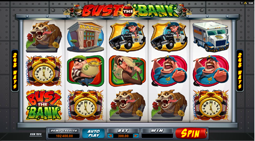 Free bust the bank slot game by Microgaming