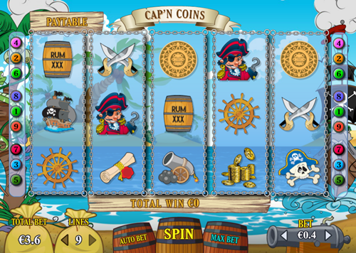Free cap'n coins slot game by Pariplay