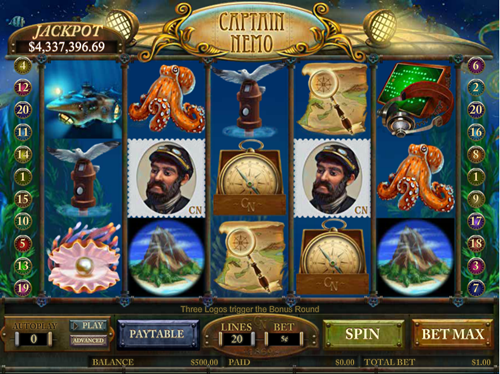 Free captain nemo slot game by Cryptologic