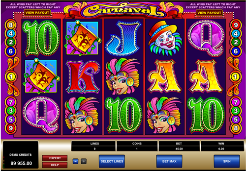 Free carnaval slot game by Microgaming