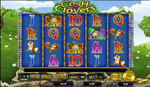 Free cash n clovers slot game by Cryptologic