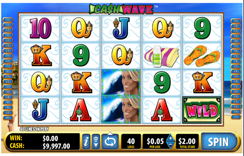 Free cash wave slot game by Bally