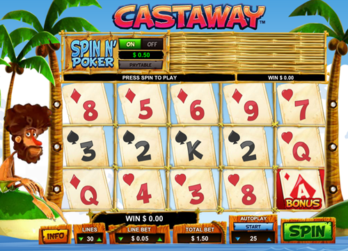 Free castaway slot game by Leander