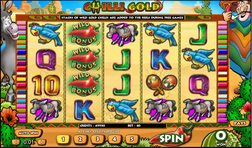 Free chili gold slot game by Aristocrat
