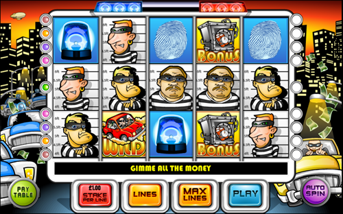 Free cops 'n' robbers slot game by OpenBet