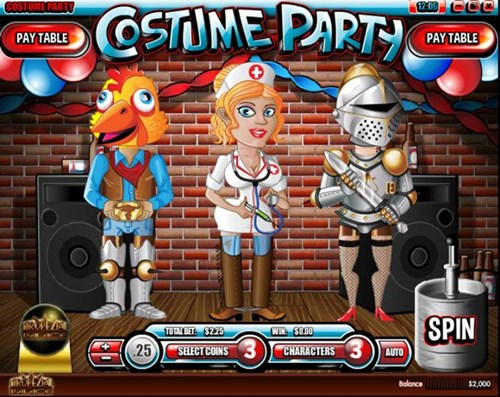 Free costume party slot game by Rival Gaming