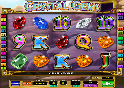 Free crystal gems slot game by Microgaming
