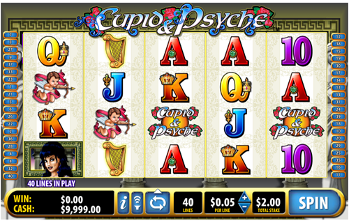 Free cupid and psyche slot game by Bally
