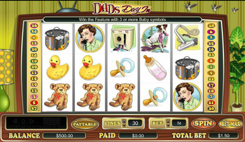 Free dads day in slot game by Cryptologic