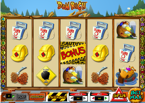 Free dam rich slot game by Cryptologic