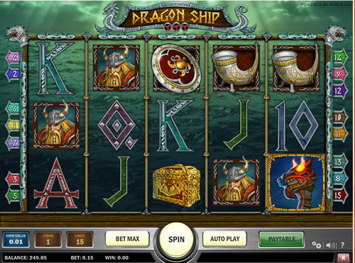 Free dragon ship slot game by Play'n Go
