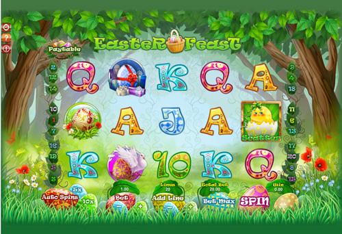 Free easter feast slot game by GamesOS