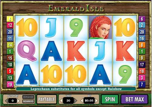 Free emerald isle slot game by Cryptologic