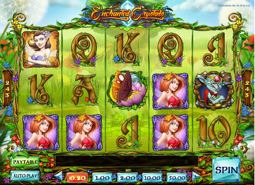 Free enchanted crystals slot game by Play'n Go
