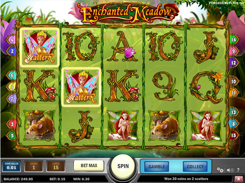 Free enchanted meadows slot game by Play'n Go