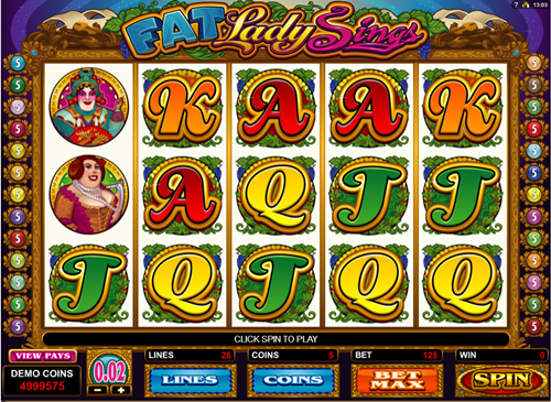 Free fat lady sings slot game by Microgaming
