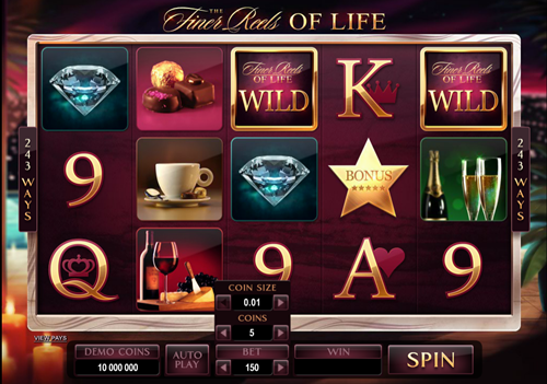 Free finer reels of life slot game by Microgaming