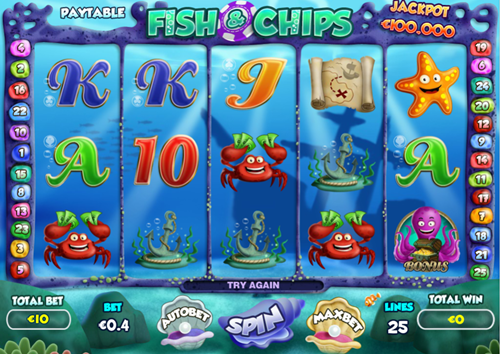 Free fish & chips slot game by Pariplay