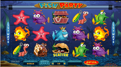 Free fish party slot game by Microgaming