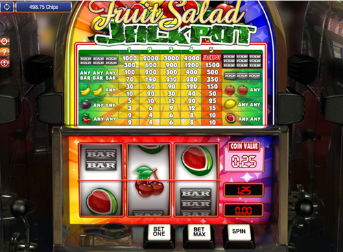 Free fruit salad jackpot slot game by Games OS